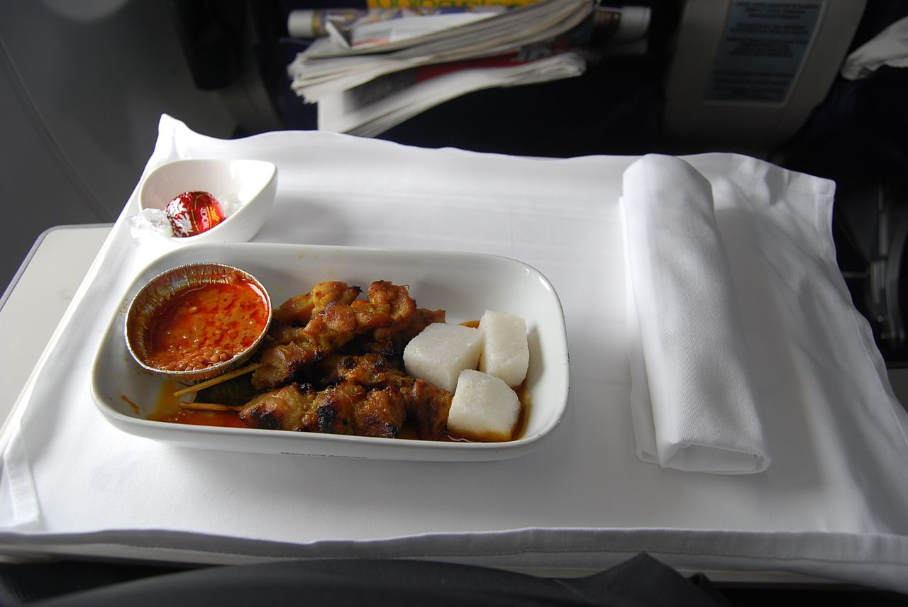 Interesting i had malaysia airlines famous chicken satay - Cuisine cosy fly ...